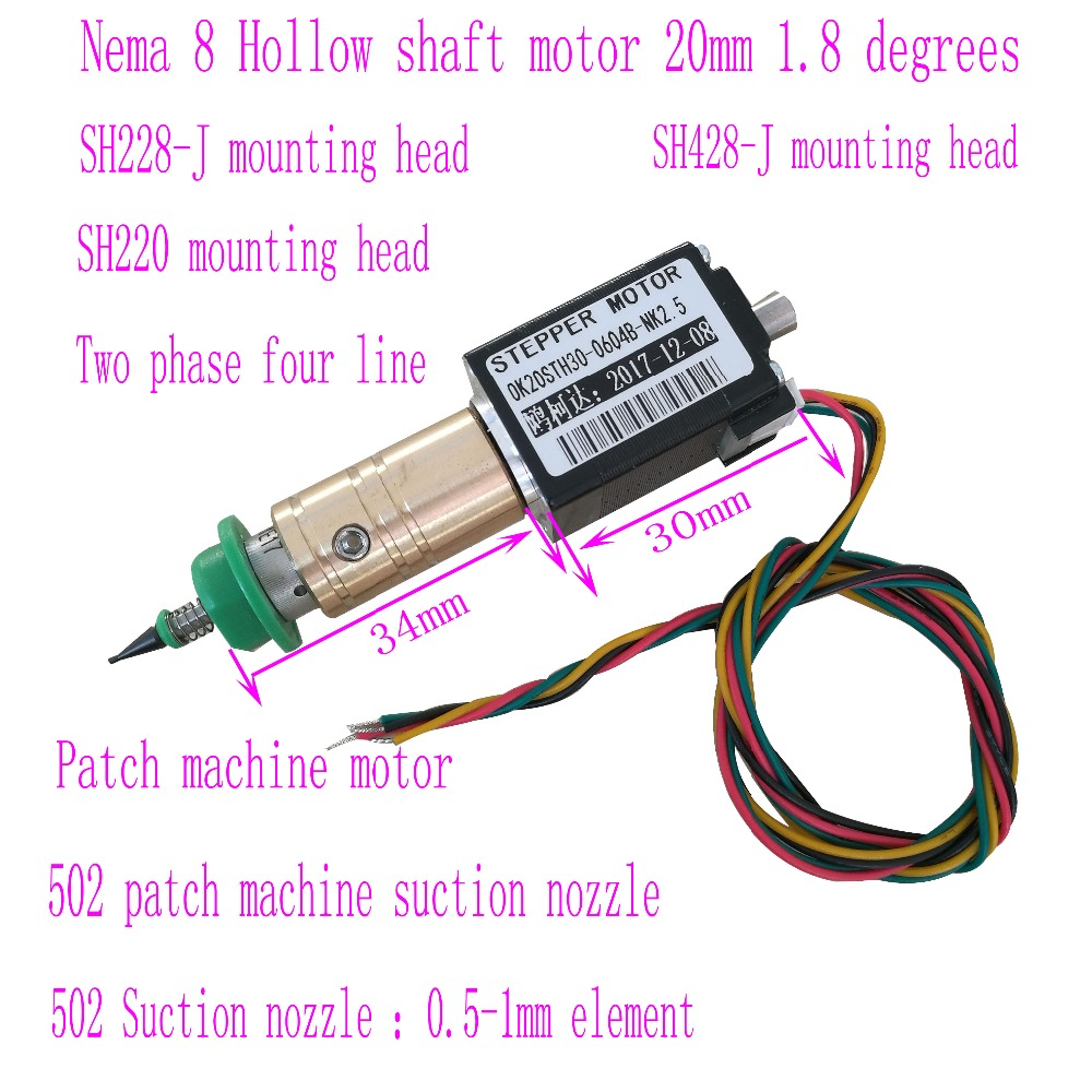 SMT Stepper Motors Hybird 2 Phase 0.8A 1.8 4 Wire,length 30mm For SMT Machanie OK20STH30-0604B-NK2.5-12 Placement Machine Motor