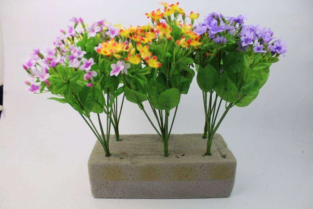 silk cloth artificial flowers jasmine flower bouquet vase empty ...