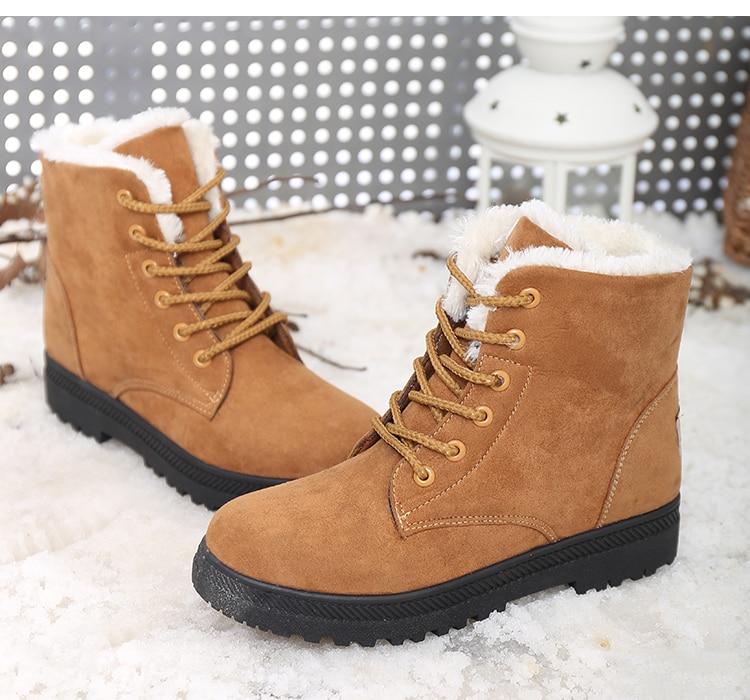 Women's High Heels Plush Winter Boots 19