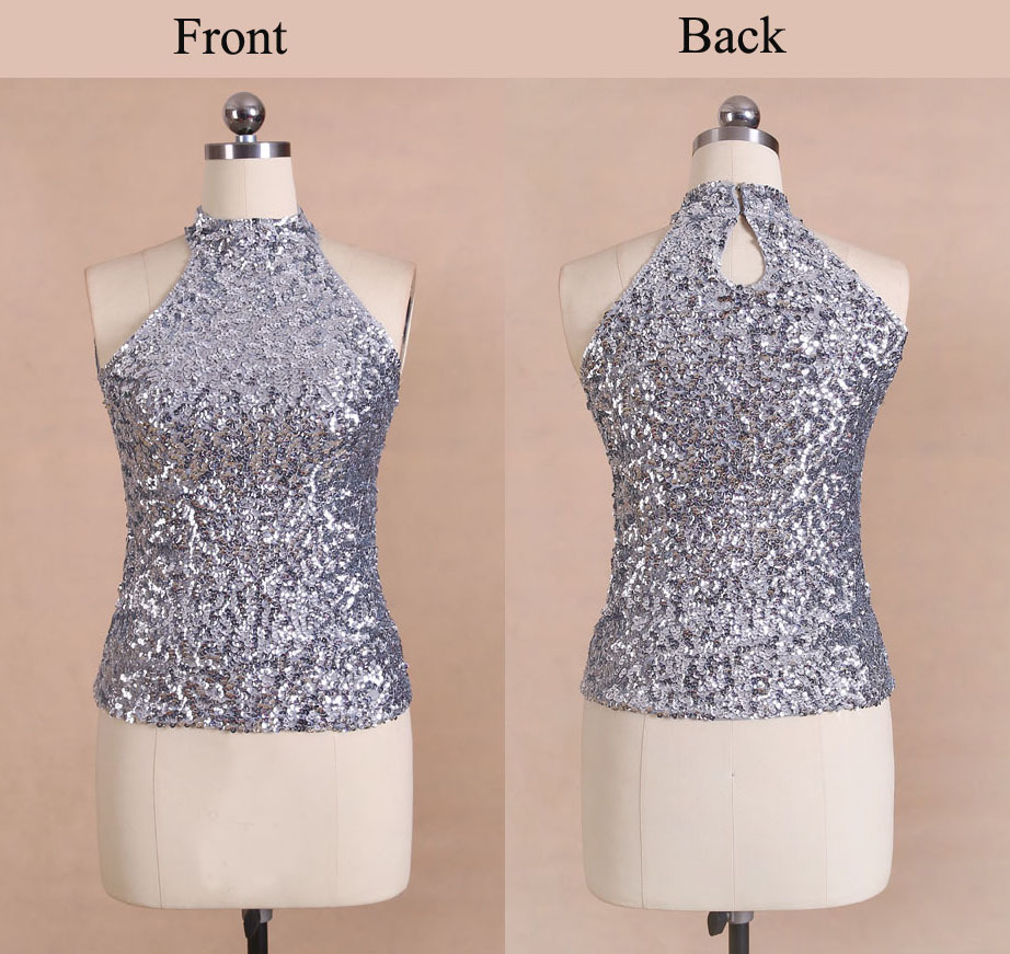 New Europe Brand Sexy Off Shoulder Sequin Vest Clubwear Woman Tops ... c3414f460833