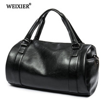 WEIXIER 2019 Hot Mens Fashion Travel PU Multi-Function Handbag Soft Material Solid Color Shopping Long-Distance