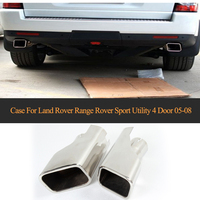Exhaust Pipe Exhaust End Pipes Auto Mufflers Case for Land Rover Range Rover Sport Utility 4 Door 2005 2008