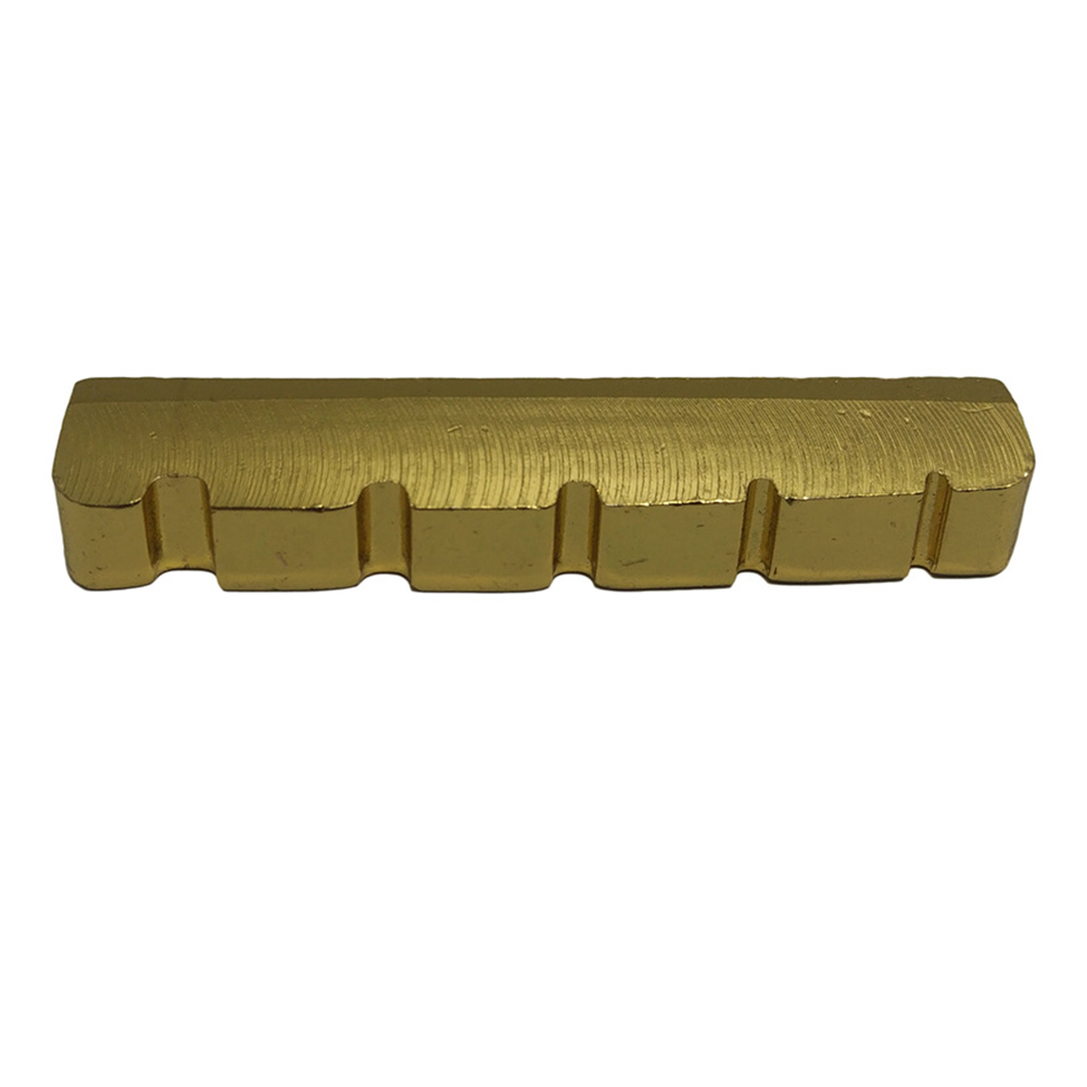 5 String Slotted Brass Gold Palted Electric Bass Guitar Bridge Nut 45.2*6*8/8.9mm