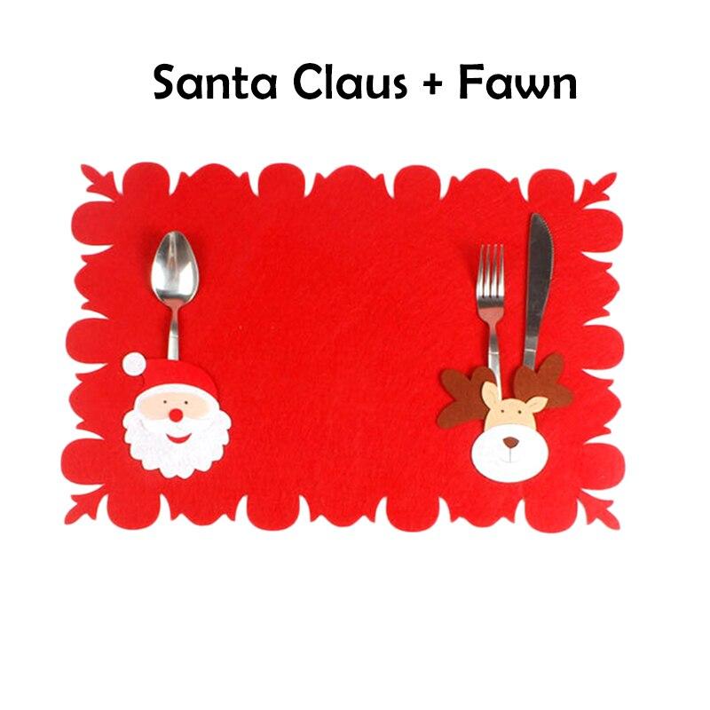 Bambino Rosso Bello Di Natale Tovaglietta Tovaglia Di Natale Babbo Natale Pupazzo Di Neve Modello Tovaglia Tavolo Di Casa Accessori Decorativi