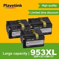 3 Set 953XL Ink Cartridges For HP 953 XL Officejet Pro 8710 8720 8730 8728 7740 8210 8218 7720 7730 Printer Full Ink Cartridge