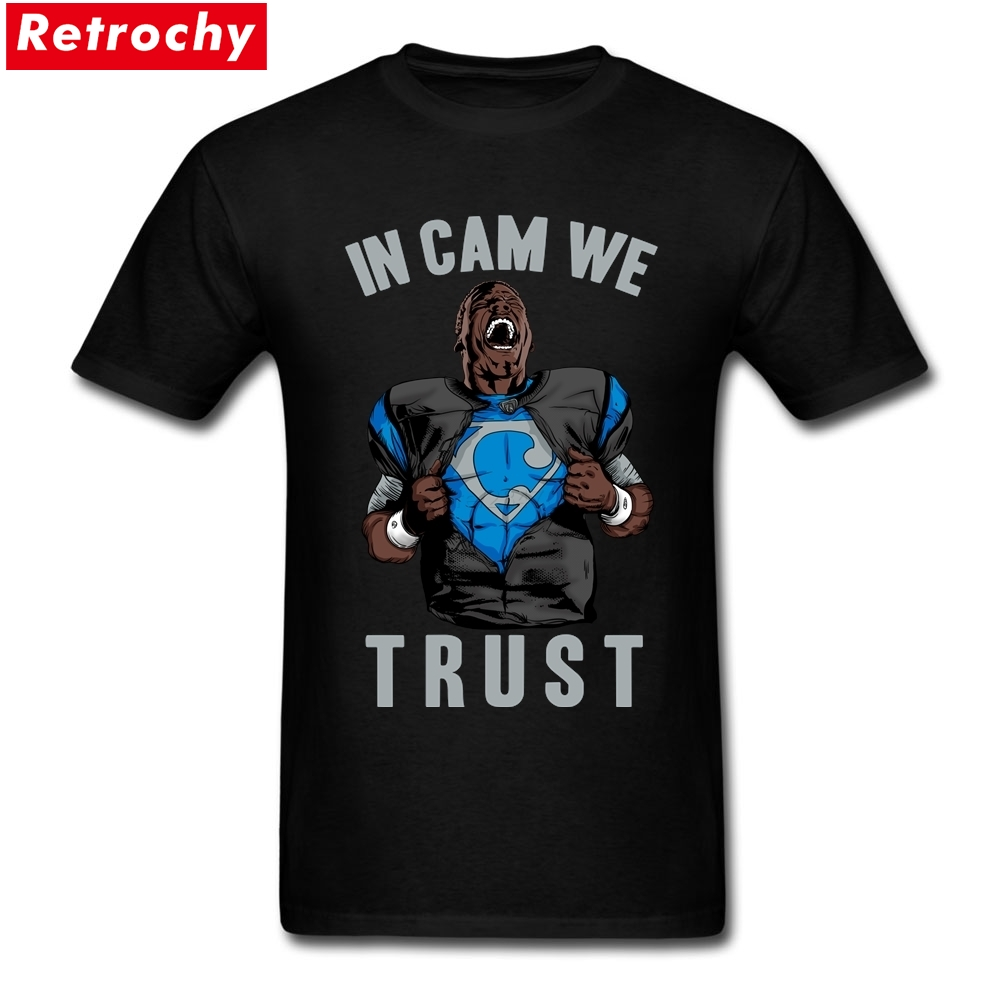 Custom Cotton Short Sleeve In Cam We Trust - Black Jersey Tee Shirts Personalised Party Big Size Design Tshirt - intl