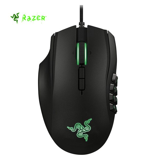 142564aacb2 Razer Naga 2014 Left-Handed Edition Expert MMO Wired Gaming Mouse 8200 DPI  With 19 Optimized Programmable Buttons -Black