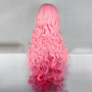 Image 3 - HAIRJOY Synthetic Hair Tsukimiya Ringo in Prince of Song  Cosplay Wig  Red Pink Ombre Curly Wigs