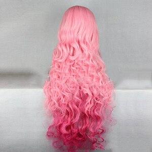 Image 3 - HAIRJOY Synthetische Haar Tsukimiya Ringo in Prinz von Song Cosplay Perücke Rot Rosa Ombre Lockige Perücken