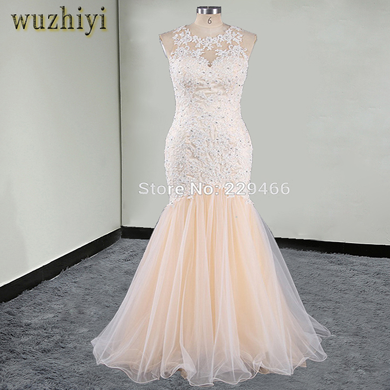 Sheer tulle Mermaid Wedding Dresses 2017 o neck Ruffles Mermaid Vestido De Novia Arabic Dubai South Africa Bridal Gowns dress