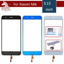 цена на 10pcs/lot TouchScreen For Xiaomi 6 Mi6 Mi 6 M6 Touch Screen Digitizer Touch Panel Sensor Front Glass with Fingerprint button