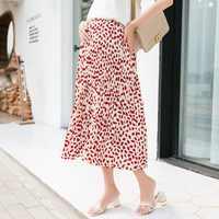 Новая летняя модная юбка для беременных женщин свободная Корейская версия дикого Hong Kong flavor Ретро шифоновая юбка для беременных женщин