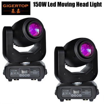 Envío gratis 2 Pack 150 W Led cabeza móvil luz LED pantalla receptor inalámbrico toma 15 grados haz 3 Facet prisma Zoom, el enfoque