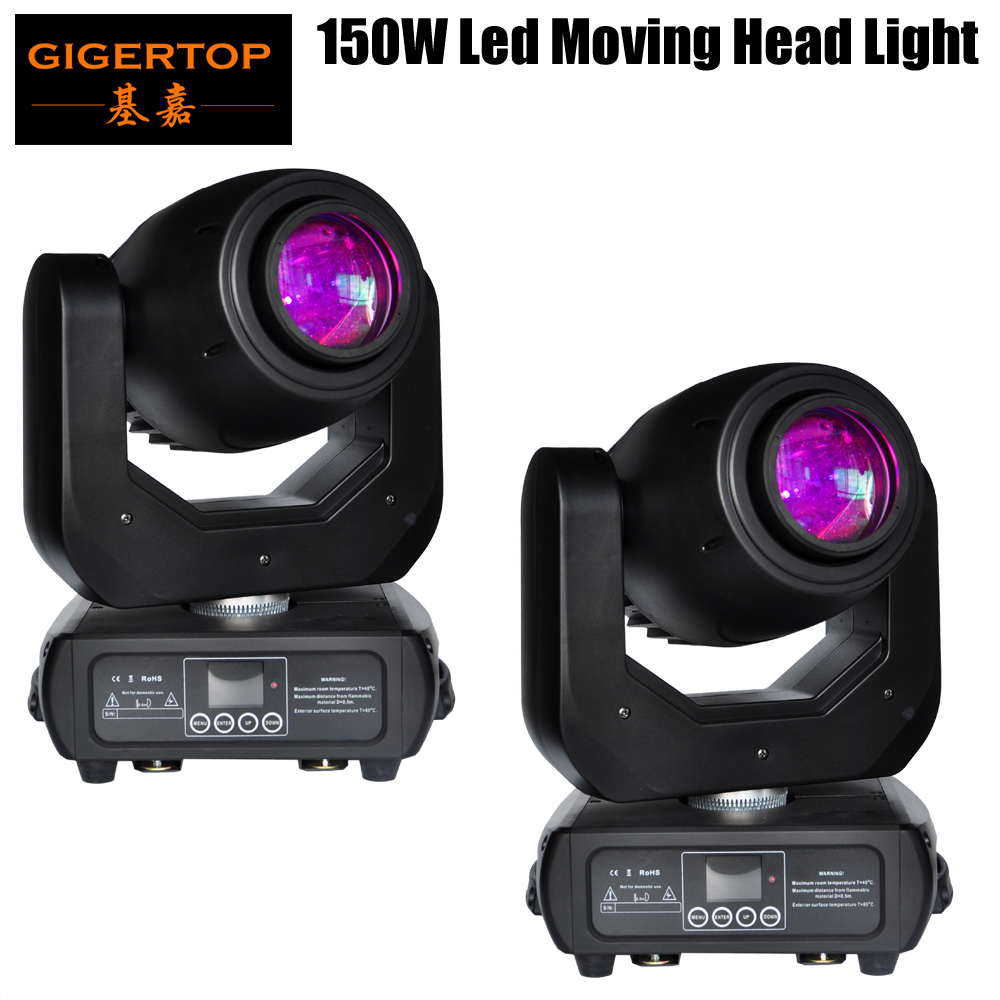 Freeshipping 2 pack 150 w Led Moving Head Spot Light LED Affichage Sans Fil Récepteur Prise 15 Degré Faisceau 3 Facette prism Zoom Mise Au Point