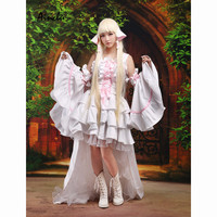 Ainclu Sweet Lolita Cosplay Dress Chobits Chii Halloween Cosplay Costume White Lolita Dress Halloween Dress For