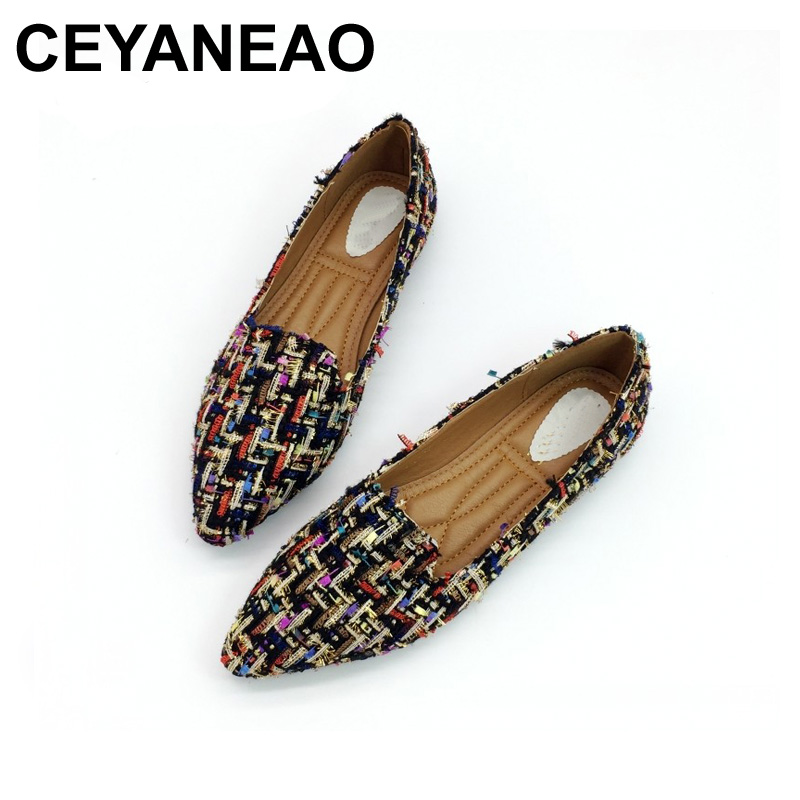 Femme Draving Beige Doux Chaussures Travail Mujer Ceyaneao Casual Ballerines Zapatos black Dame Pour Mocassins Simples Femmes 6IwFwqnxP