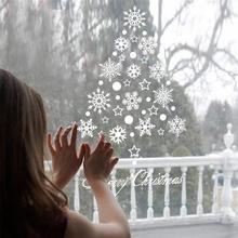 Window Snow Flakes Sticker Winter Snowflake Wall Stickers Christmas Window Wall Decals Xmas Christmas Decoration Home Decor