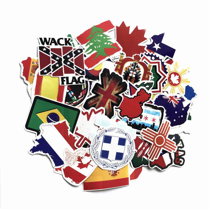 52 piezas bandera Retro cada país decoración papelería pegatina diy diario scrapbooking etiqueta adhesiva papelería