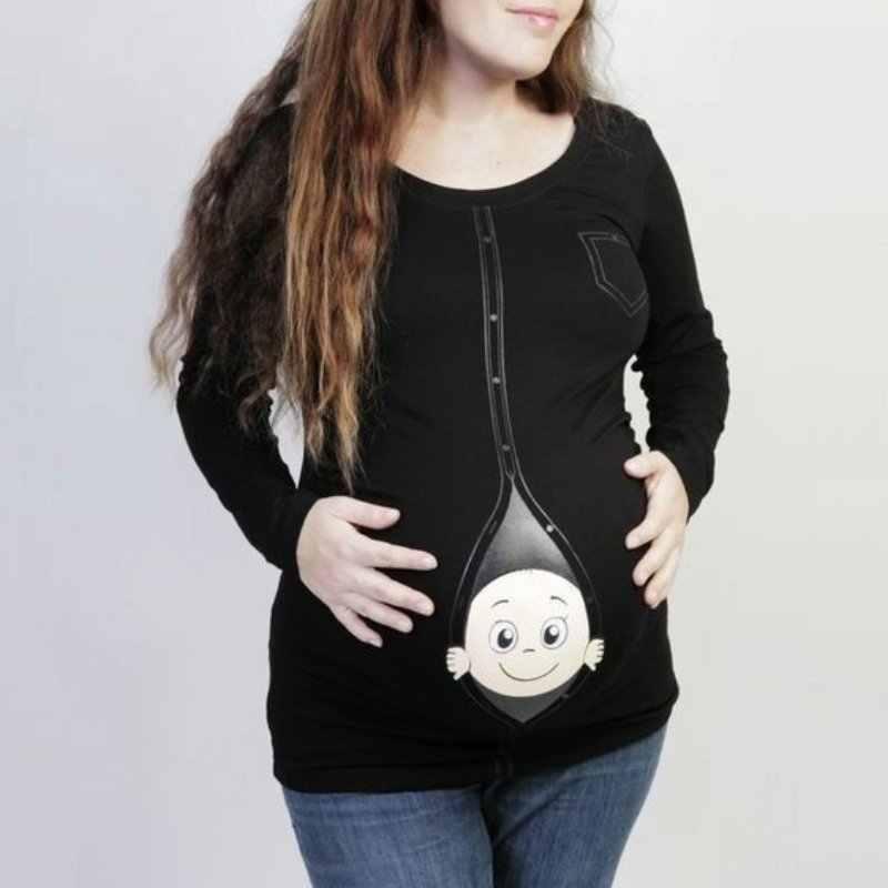 Новинка; Лидер продаж; милые футболки для беременных; повседневная одежда для беременность материнство; Детские футболки Peeking Ou; Одежда для беременных