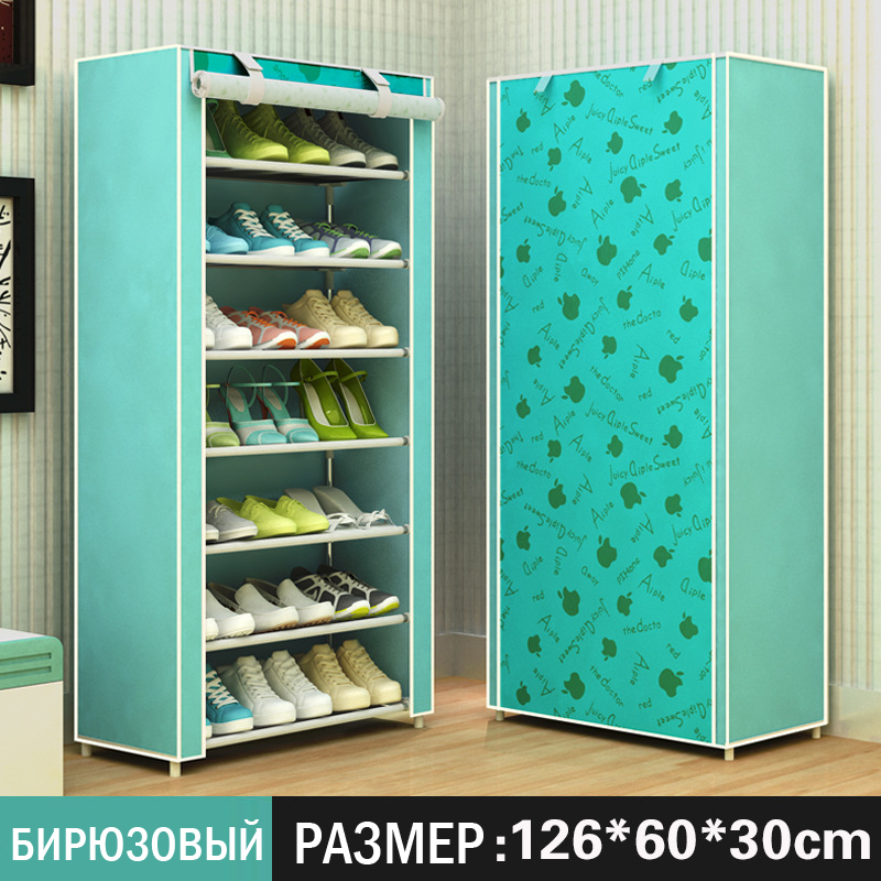 Non-woven fabrics large shoe rack organizer removable shoe storage for home furniture shoe cabinet simples Gabinete de zapatos
