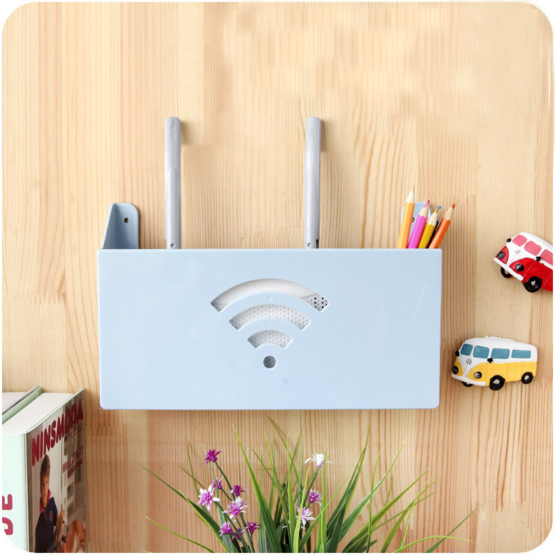 Routere Storage Box Racks Beskyttelsesboks Hang Wall Cable Router Opbevaringskasser Multifunktions Debris Book Storage Holder