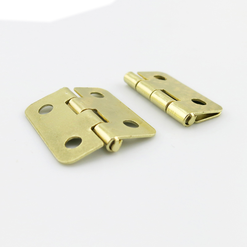 17193TW JMT 2Pcs 1 7 1 8cm Imitation Copper Small Folding Hinge with 4 Holes Mini