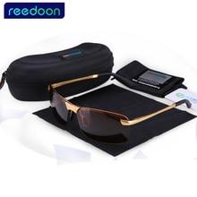 2017 ReeDoon Brand Fashion Polarizing Sunglasses Men Driving Sun Glasses Alloy Frame 8 colors oculos Hot Sale 3043
