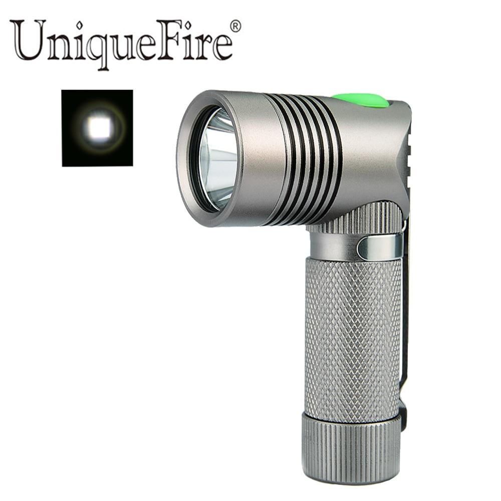 Einzigartige V4-A Super MINI Taschenlampe Winkelform Design XPE 250 LM 90 Grad weißes Licht, 3 Modi Aluminium Lampe Taschenlampe