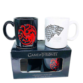 "Ceramic Cups ""Fire and Blood"""