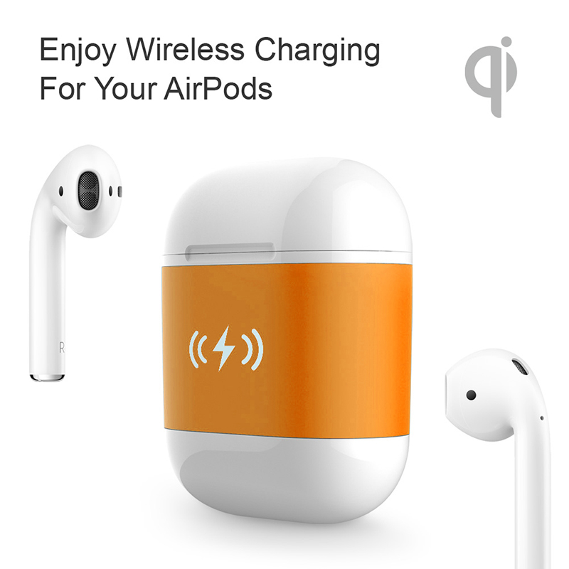 Intelligent Wireless Charger Case For Airpods 5V/1A Charging Case QI Standard Wireless Charge Case Receiver For Apple Airpod