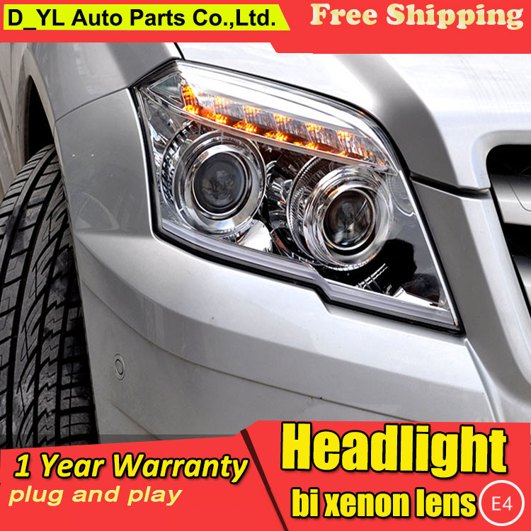 D YL Car Styling for Benz GLK 300 Headlights 2011 GLK 300 LED Headlight DRL Lens