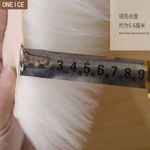 Image 2 - 30*30 centimetri morbido artificiale tappeto di pelle di pecora cuscino della copertura camera da letto artificiale coperta caldo tappeto capelli lunghi sedile pelliccia pavimento mat