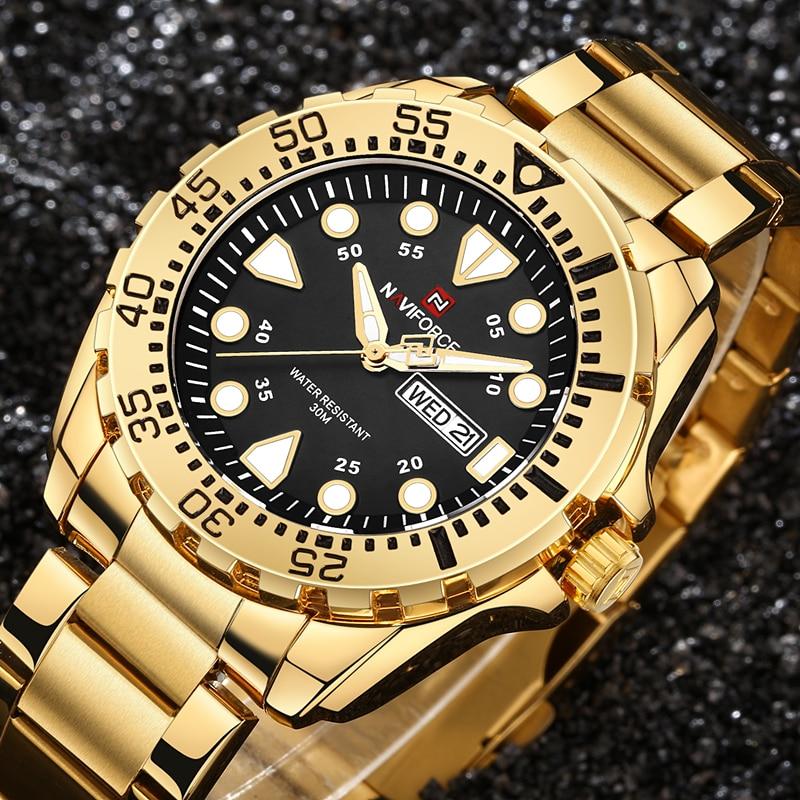 2d3254e5426e NAVIFORCE Top Brand Hombres de Lujo del Deporte Relojes Hombres de Cuarzo  Resistente Al Agua Reloj