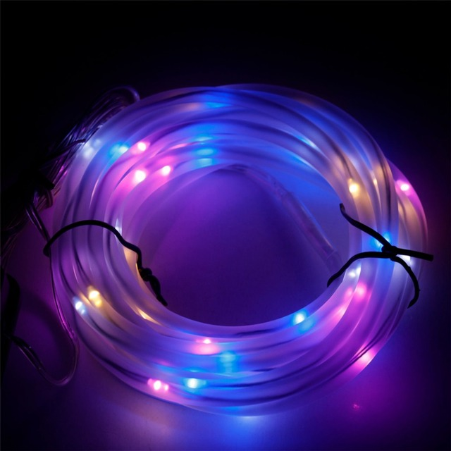 5m 50 leds solar power string lights waterproof outdoor warm white 5m 50 leds solar power string lights waterproof outdoor warm white copper wire tube light aloadofball Gallery