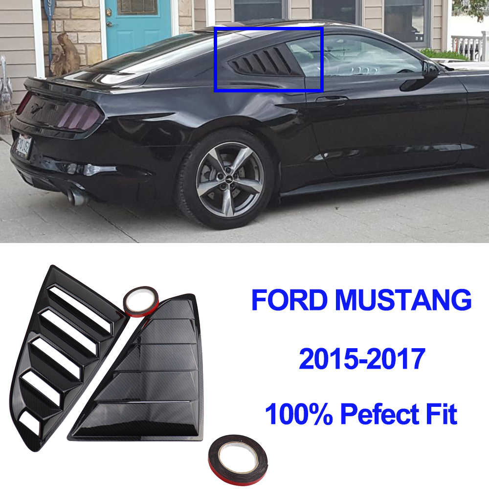 Voor Ford Mustang Achter Kwart Venster Lamellen Spoiler Scoops Auto Styling Tunning Panel Side Air Vent Cover Sticke 2015 2016 2017