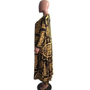 Image 4 - Costume pour femmes, pantalon Baggy imprimé africain, Style Rock, manches Dashiki, costume célèbre, manteau et leggings, 2 pièces/se, nouvelle collection 2019