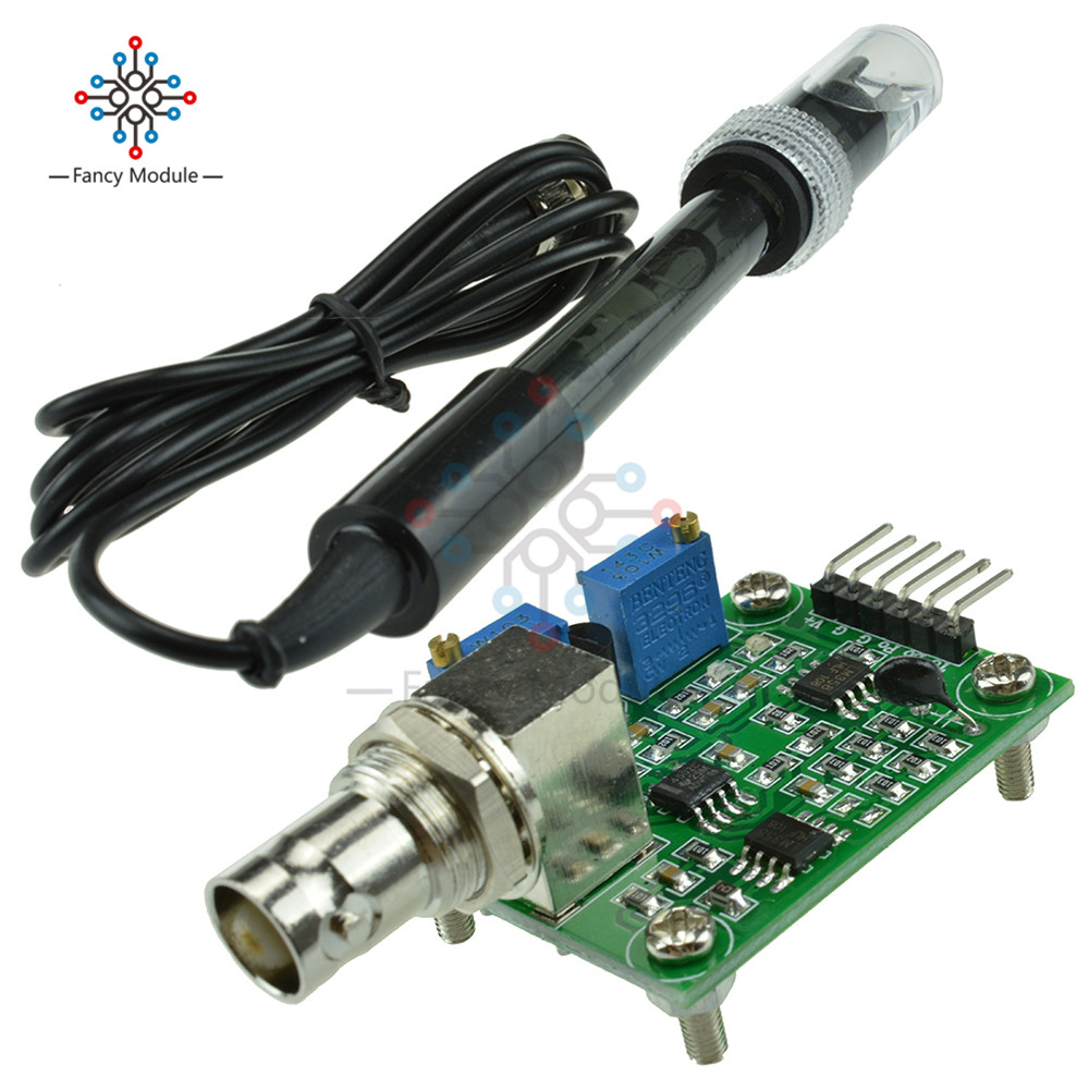 цена на Liquid PH Value Detection detect Sensor Module Monitoring Control For Arduino BNC Electrode Probe