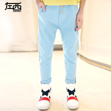 2016 spring new in male child solid color trousers boys child casual pants