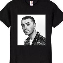 46a6c54a61ef SAM SMITH THE THRILL OF IT ALL NEW BLACK T-SHIRT TOUR TOP 100%