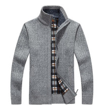 Men's Cardigans Sweaters New Arrives Autumn Winter Mandarin Collar Casual Clothes For Men Zipper Sweater Warm Knitwear Sweater