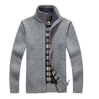 Men Cardigan Sleeves New Arrives Autumn Zipper Sweaters Cotton Outerwear Casual Clothes For Men Sweater Warm