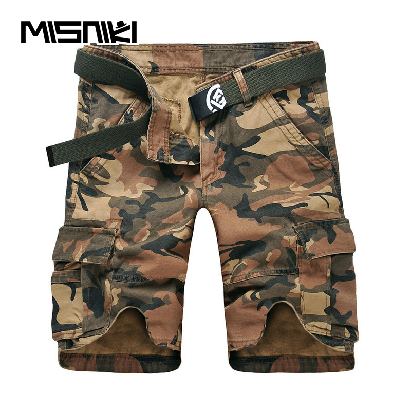 MISNIKI 2019 Summer New Men Cargo   Shorts   Cotton Casual Military Camouflage Tactical Work Cotton Male Man   Shorts