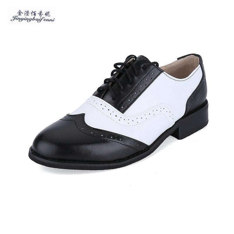 ffebae49dfa Genuine Leather Black white oxford shoes for men lace-up mens dress shoes  size 12