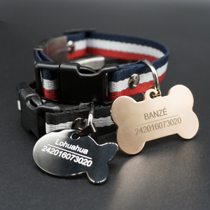 Image 2 - Personalized Dog Tag Stainless Steel Name Engraved ID Tags For Dog Collar Anti Lost Pet Nameplate Pendant For Pitbull Labrador
