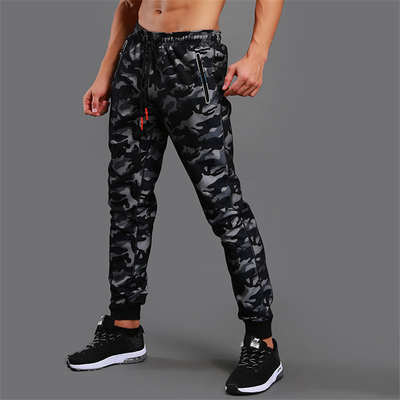2019 New High Quality Jogger Camouflage Gyms Pants Men Fitness Bodybuilding Gyms Pants Runners Clothing Sweatpants(China)