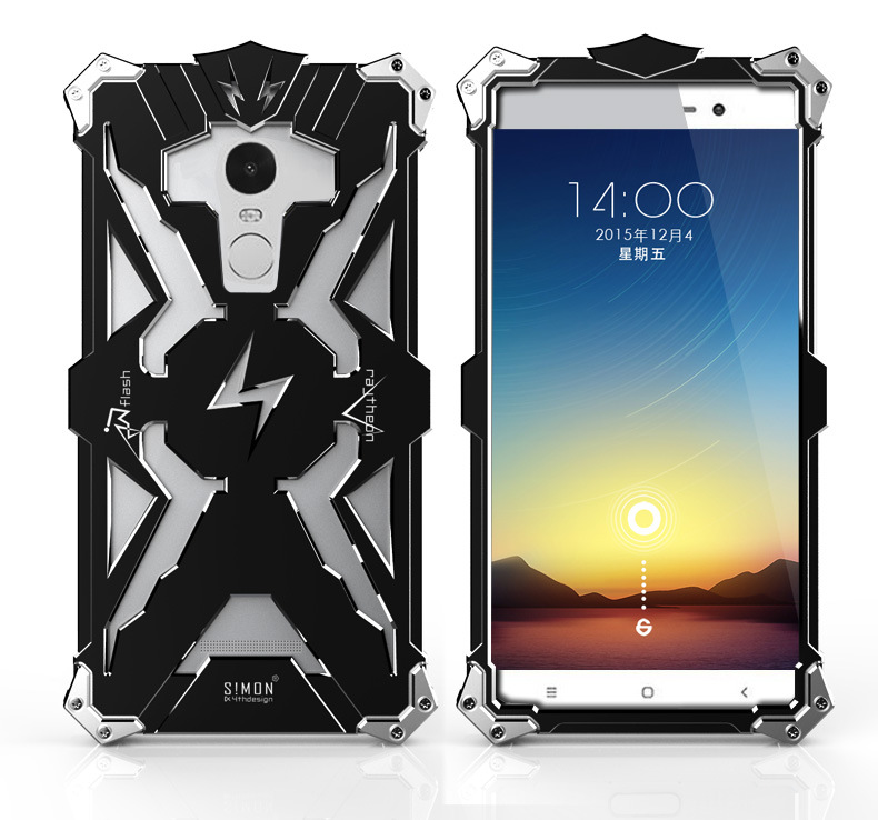 Simon THOR IRONMAN Shockproof Outdoor Metal Back Cover For Xiaomi Redmi Note 3 Aluminium Frame Anti