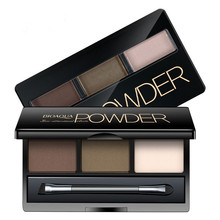 2 Color eyebrow enhancer brand eyebrow powder with eyebrow Brush stencil eyebrow shadow Palette Cosmetic Makeup