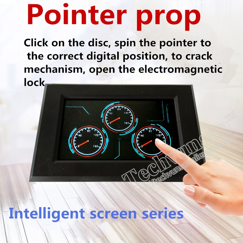 Magia jogo Ponteiro ponteiro Dashboard prop room escape adereços Girar Tela de Toque Inteligente na posição correta para desbloquear