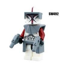 Одна распродажа, Супер герои, Звездные войны 492, клон, командор, строительные блоки, фигурки, кирпичи, игрушки, детские подарки, совместимые с Legoed Ninjaed