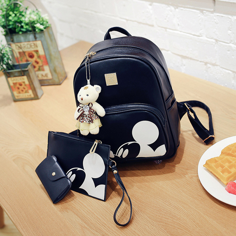 ECOPARTY Backpack Mochila Feminina Leather Rucksack Women Composite Backpack High Quality Pu Bagpack leather Bag